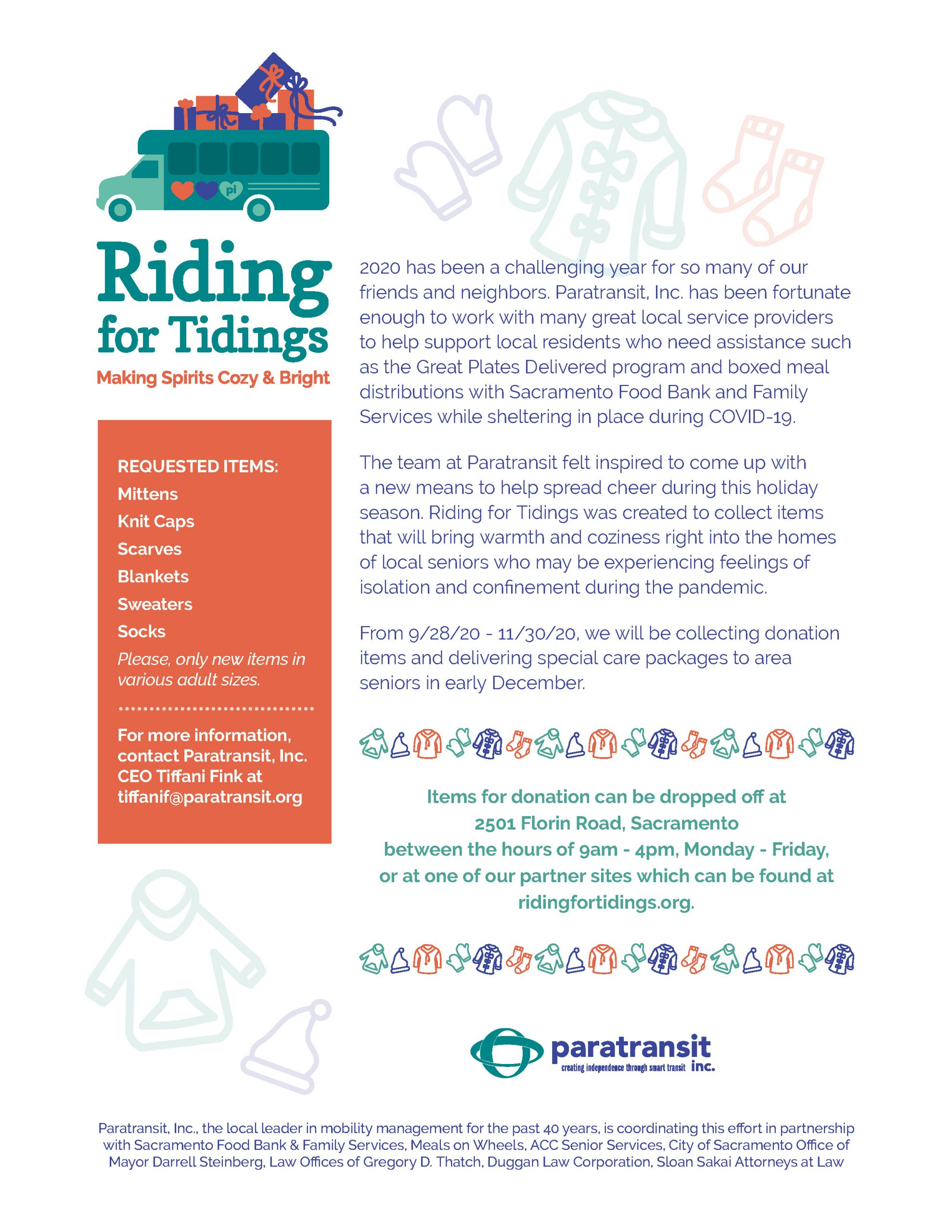Riding For Tidings